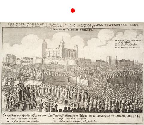 """Imagen de tapa: Wenceslaus Hollar The true maner of the execution of Thomas Earle of Strafford, aguafuerte (16.8 x 26.3 cm.), Museo Británico de Londres, 1641.  Autor: Wenzel (al.) o Václav (che.) Hollar —Praga, 1607; Londres, 1677— fue un dibujante, grabador e ilustrador cartográfico de origen bohemio que gozó de una gran popularidad en Inglaterra. Vinculado al patronazgo nobiliario y reputado legitimista, en 1641 ingresa a servicio cortesano de los Estuardo (fue profesor de dibujo del Príncipe de Gales), donde conoce a Hobbes. A partir de esta coincidencia y de su reputación como artista se lo ha considerado tradicionalmente como el autor del frontispicio del Leviathan, versión que recientemente se ha desestimado en favor del grabador francés Abraham Bosse (1603-1676). Cfr. H. Bredekamp, Thomas Hobbes Der Leviathan : das Urbild des modernen Staates und seine Gegenbilder, 1651-2001, Berlin: Akademie Verlag, 2012, pp. 31 y ss. Tema: Se representa la ejecución de Thomas Wentworth, 1er Conde de Strafford (1593-1641), principal consejero y ministro de Carlos I durante los once años de la deriva protoabsolutista del régimen Estuardo o """"gobierno personal"""" del rey (1629-1640). Strafford fue también gobernador de Irlanda hasta 1639 (Lord Deputy of Ireland, técnicamente un virrey o gobernador general) cuya administración eficiente pero autoritaria le granjeó innumerables enemigos políticos, especialmente en el Parlamento. Desde allí surgió un fallido intento de juicio político (impeachment) por alta traición, que culminó en una declaración penal del Parlamento (bill of attainder) y su posterior ajusticiamiento el 12 de mayo de 1641. La escena muestra el carácter multitudinario del evento y la especial habilidad de Hollar para representar los cuerpos de la muchedumbre, lo que recuerda poderosamente la imagen del Leviathan en el frontispicio.   Adenda: La traducción en la parte inferior de las referencias en inglés (ángulo superior derecho), indica con toda probabilidad una f"""